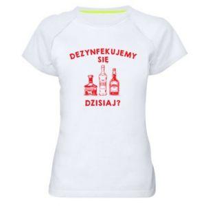 Koszulka sportowa damska Dezynfekcja