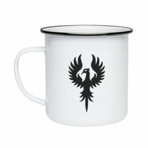 Enameled mug Еagle big wings