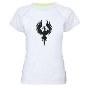 Damska koszulka sportowa Оrzeł wielkie skrzydła - PrintSalon