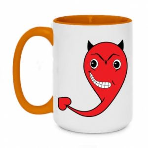 Two-toned mug 450ml Devil