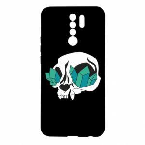 Etui na Xiaomi Redmi 9 Diamond skull