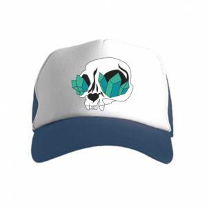 Czapka trucker dziecięca Diamond skull