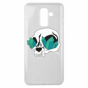 Etui na Samsung J8 2018 Diamond skull