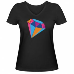 Women's V-neck t-shirt Diamond