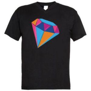 Męska koszulka V-neck Diament