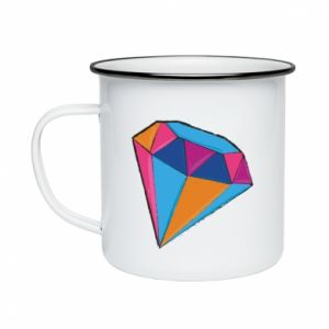 Enameled mug Diamond