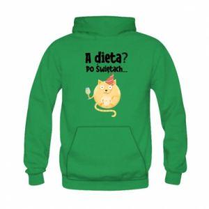 Bluza z kapturem dziecięca Dieta? po Świętach
