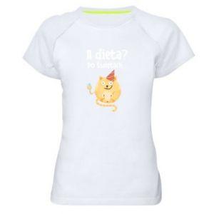 Women's sports t-shirt Diet? after Christmas