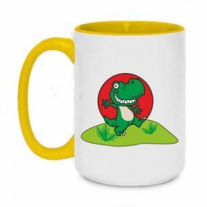 Two-toned mug 450ml Dino