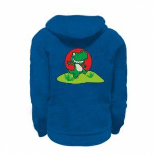 Kid's zipped hoodie % print% Dino