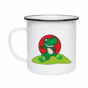 Kubek emaliowane Dino