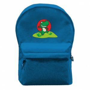 Plecak z przednią kieszenią Dino
