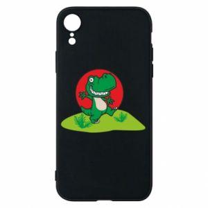 Etui na iPhone XR Dino