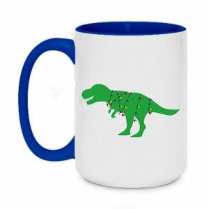 Two-toned mug 450ml Dinosaur in a garland