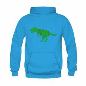 Bluza z kapturem dziecięca Dinozaur w girlandzie