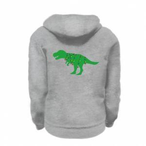 Kid's zipped hoodie % print% Dinosaur in a garland