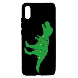 Xiaomi Redmi 9a Case Dinosaur in a garland
