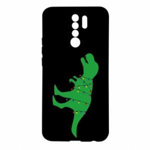 Etui na Xiaomi Redmi 9 Dinozaur w girlandzie