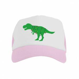 Kid's Trucker Hat Dinosaur in a garland