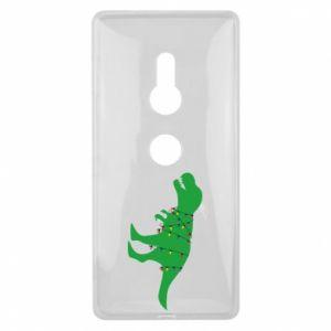 Etui na Sony Xperia XZ2 Dinozaur w girlandzie