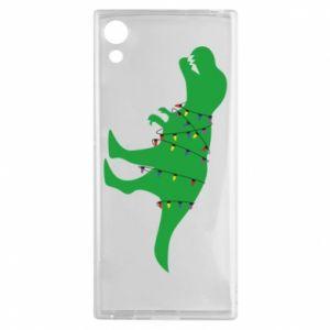 Etui na Sony Xperia XA1 Dinozaur w girlandzie