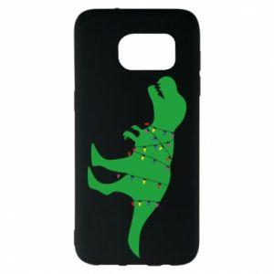 Etui na Samsung S7 EDGE Dinozaur w girlandzie
