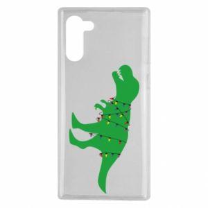 Etui na Samsung Note 10 Dinozaur w girlandzie