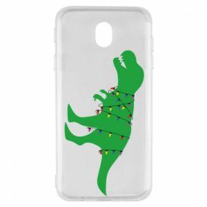 Samsung J7 2017 Case Dinosaur in a garland