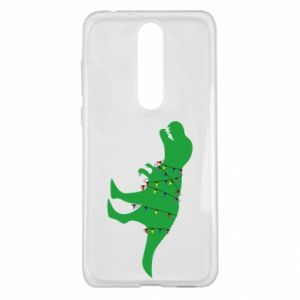 Etui na Nokia 5.1 Plus Dinozaur w girlandzie