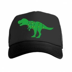 Trucker hat Dinosaur in a garland
