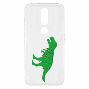 Etui na Nokia 4.2 Dinozaur w girlandzie