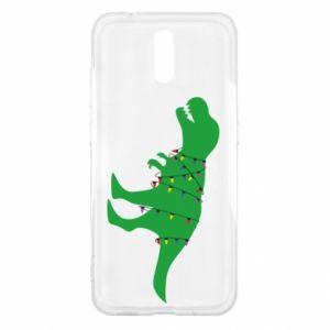 Etui na Nokia 2.3 Dinozaur w girlandzie