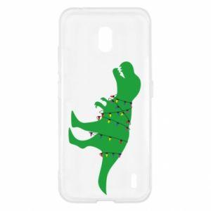 Etui na Nokia 2.2 Dinozaur w girlandzie