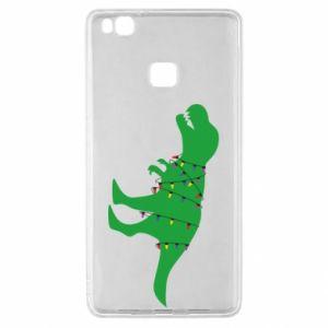 Etui na Huawei P9 Lite Dinozaur w girlandzie