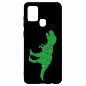 Etui na Samsung A21s Dinozaur w girlandzie