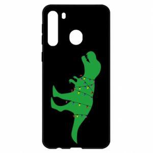Etui na Samsung A21 Dinozaur w girlandzie