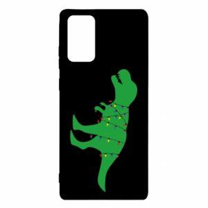 Etui na Samsung Note 20 Dinozaur w girlandzie