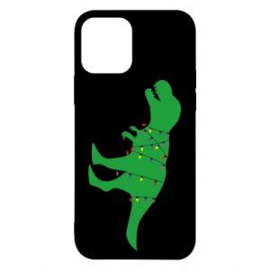 Etui na iPhone 12/12 Pro Dinozaur w girlandzie