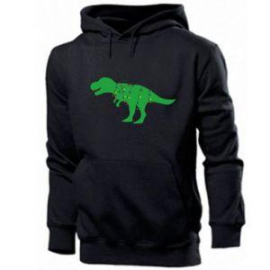 Men's hoodie Dinosaur in a garland
