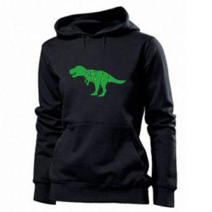 Women's hoodies Dinosaur in a garland