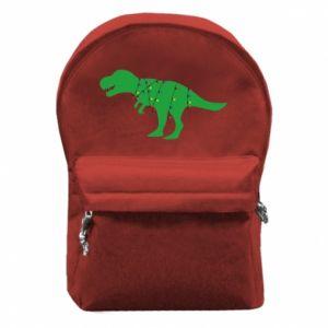 Plecak z przednią kieszenią Dinozaur w girlandzie