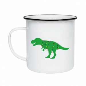Enameled mug Dinosaur in a garland
