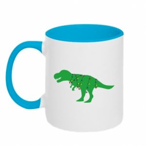 Two-toned mug Dinosaur in a garland