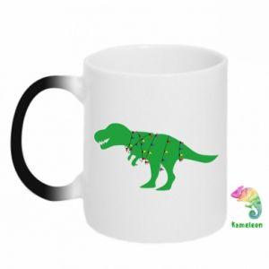 Kubek-kameleon Dinozaur w girlandzie