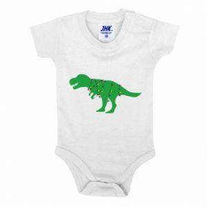 Baby bodysuit Dinosaur in a garland