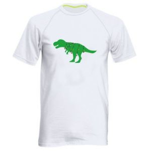 Men's sports t-shirt Dinosaur in a garland
