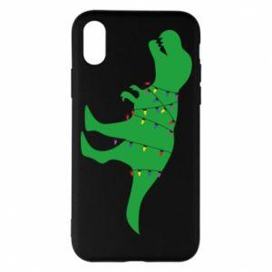 iPhone X/Xs Case Dinosaur in a garland