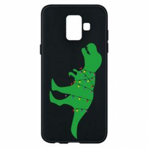 Phone case for Samsung A6 2018 Dinosaur in a garland