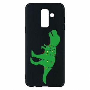 Phone case for Samsung A6+ 2018 Dinosaur in a garland