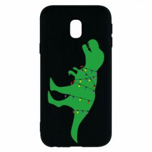 Phone case for Samsung J3 2017 Dinosaur in a garland